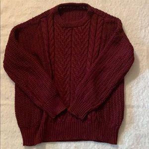 Burgundy ZARA knit sweater size L